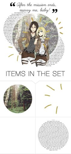 """OTP tbh."" by itspizzachan ❤ liked on Polyvore featuring art, anime and attackontitan"