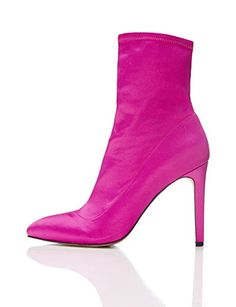 FIND Damen Stiefel, Pink (HOT PINK), 38 EU: Amazon.de: Schuhe & Handtaschen High Heel Boots, Heeled Boots, Ankle Boots, Sexy High Heels, All About Shoes, Sexy Boots, Pink Shoes, Winter Shoes, Me Too Shoes
