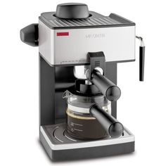Mr. Coffee ECM160 4-Cup Steam Espresso Machine, Black - This 4 cup espresso maker makes it easy to enjoy 1 to 4 cups of delicious espresso, cappuccino or latte. The powerful Milk Frothing Nozzel and Frothing Aid helps steam milk to perfection. Produc