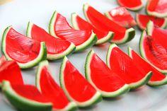 Water melon jello shot