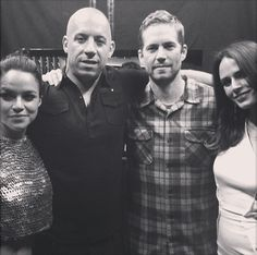 Michelle Rodriguez, Vin Diesel, Paul Walker and Jordana Brewster Dwayne The Rock, Mtv Movie Awards, Michelle Rodriguez, Vin Diesel, Fast And Furious Actors, Dom And Letty, Black Tv Shows, Dominic Toretto, I Dont Have Friends