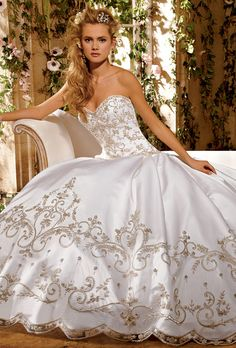 Eve of Milady wedding gowns are created with all the grandeur and elegance a bride could possibly want. Best known for their amazing ball gowns, Eve of Milady does not disappoint with any of their beautiful creations Bridal Wedding Dresses, Wedding Dress Styles, Dream Wedding Dresses, Wedding Attire, Eve Of Milady Wedding Dresses, Bridesmaid Gowns, Bling Wedding, Wedding Jewelry, Princess Ball Gowns