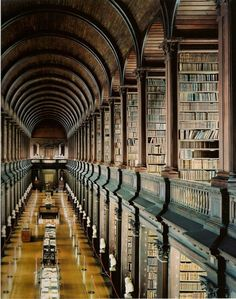 Trinity College library in Dublin; overwhelmingly grand