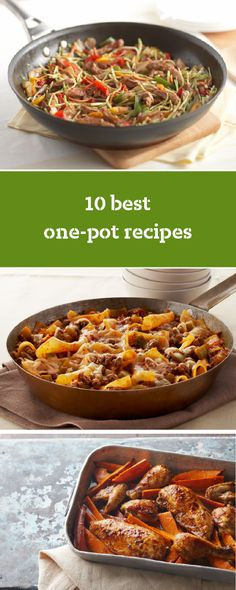 10 Best One-Pot Recipes – Headline your next meal with these one-pot recipes! One-pot recipes are easy to make and clean up. No wonder these simple recipes are a family fave when it's time to make something delicious for your dinner table.