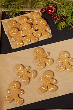 Fun Gingerbread Man Cookies - Use one Gingerbread Man Cookie Cutter and Trim the Sides to make Different Shaped Gingerbread Men. www.thebearfootbaker.com