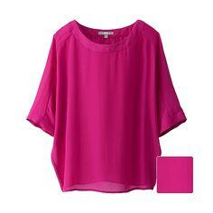 WOMEN Georgette Short Sleeve Blouse