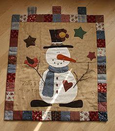 snowman applique design