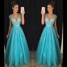 Blue Prom Dresses,Elegant Evening Dresses,Long Formal Gowns,Beaded Party Dresses,Chiffon Pageant Formal Dress,Backless Prom Dresses