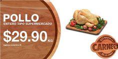 Ofertas de carnes en La Comer: ¿Buenos días? Buenos los martes de #QuéRicaeslaCarne, #LaComer tiene las siguientes ofertas y promociones en carnes: > Pollo entero tipo supermercado a solo $29.90 el Kilo. > Bistec ranchero a solo $109.90 el Kilo. > Chuleta ahumada a solo $67.90 el Kilo. > Milanesa de pollo a solo $98.90 el Kilo. > Nugget's de pechuga de pollo a solo $61.90 el Kilo