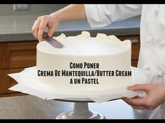 Cómo decorar un Pastel con Crema De Mantequilla/Butter Cream - Madelin's Cakes - YouTube