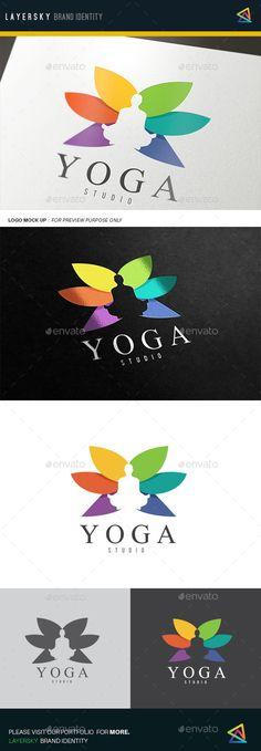 Yoga Logo Template Vector EPS, AI. Download here: http://graphicriver.net/item/yoga/12011376?ref=ksioks