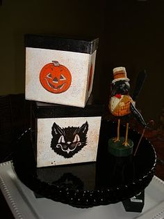 Dollar Store Halloween Boxes