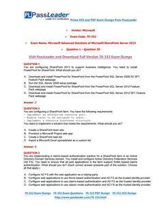 70-332 Exam Dumps-70-332 VCE Dumps-70-332 PDF Dumps (1-20)-http://www.passleader.com/70-332.html