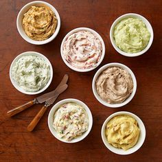 These savory flavored butters enhance meats, fish, pasta and breads. Try a new savory butter recipe with dinner! Flavored Butter, Homemade Butter, Butter Recipe, Homemade Cheese, Chutneys, Recipe Land, Sauces, Cheese Scones, Quick Side Dishes