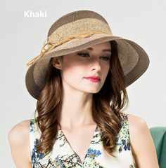Elegant bow spell color sun hat for women summer beach straw bucket hats