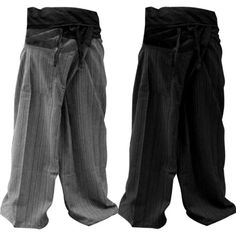 0abe657de5a Thai Fisherman Pants Yoga Trousers FREE SIZE Plus Size Cotton Drill Dark  BLUE