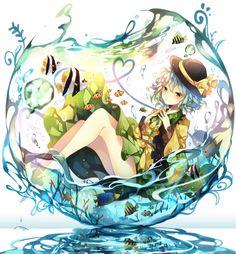 Day la the gioi anime nhiem mau. Hay thu tan huong cam giac nhe nhang thu gian trong chiec binh thuy tinh la lung