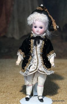 """7"""" All-Original """"Belton"""" Bisque Doll as French Marquis"""