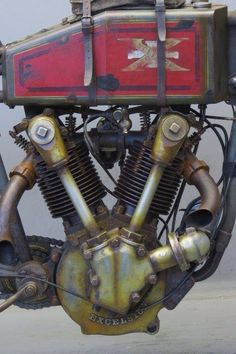 Excelsior V Twin Antique Motorcycles, American Motorcycles, Custom Motorcycles, Custom Bikes, Cars And Motorcycles, Virago Cafe Racer, Moto Scrambler, Motorcycle Engine, Motorcycle Art