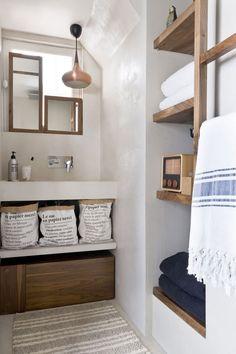 Salle de bains en béton tadelakt Margaux Beja via Nat et nature