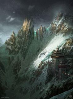 Templo de Tet Suyangandëre Ento, ou Tetsuyen, habitado pelos lendários monges Tetsuyen