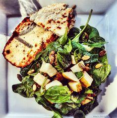 BLONDER AMBITIONS   INSTAGRAM RECAP – FOOD EDITION. pierre lafond wine bistro – grilled chicken   spinach   pepitas   pears   sherry vinaigrette