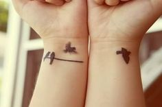birds tattoo♥