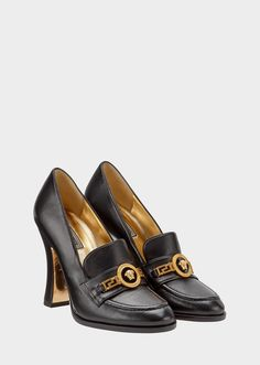 Versace Tribute Loafer Heels for Women  edb9aa0704a1