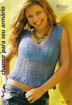 Blue Azure Tank Top free crochet graph pattern