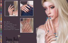 Sims 4 Nails, Cc Nails, Diana, The Sims 4 Download, Sims 4 Custom Content, Barbie World, Sims Cc, Maxis, Maxi Skirts