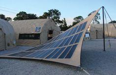 Photovoltaic fabrics.