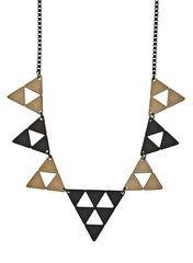 Hematite Geometric Necklace