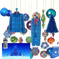 """""""Blue Christmas"""" by Cyberjammies-uk on Polyvore"""
