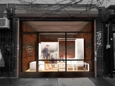 """In an attempt to activate a vacant storefront in New York's Lower East Side, the miLES Storefront Transformer – a 6ft cube designed to """"program any storefront"""" – is a versatile, movable set of furnishing and amenities designed by Architecture Commons."""