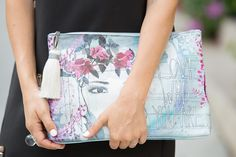 graphic purse - trendy large clutch, oversized clutch, japanese fashion