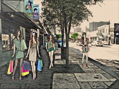 6th Street Shopping Photography Journal, Street View, Shopping