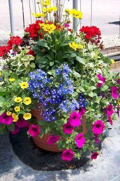 Container Flowers Ideas New Patio Flower Pots Ideas Garden Container Planting Ideas Crates and sourc Diy Garden, Garden Cottage, Garden Projects, Garden Landscaping, Shade Garden, Garden Pallet, Blue Garden, Colorful Garden, Garden Crafts
