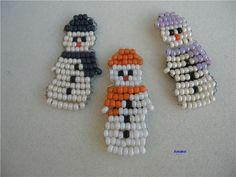 Сніговик з бісеру