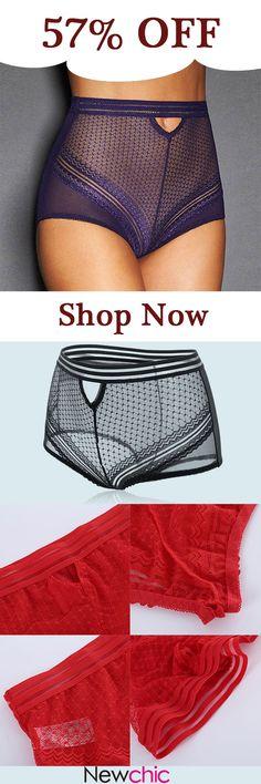 e80ebbf20205 Plus Size High Waist Tummy Control Hollow Lace Panties. #panties #sexy #love