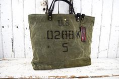 US MILITARY BAG Tote Repurposed Large Carry All Weekend