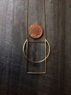 Goldfill Geometric Morning Necklace by LoopHandmadeJewelry on Etsy