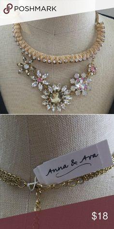 Anna & Ara Statement Necklace Elegant ribbon detailed statement piece. Anna & Ara Jewelry Necklaces