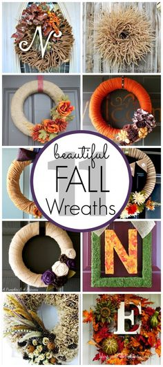 11 beautiful DIY Fall Wreath ideas - these are all adorable!