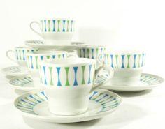 vintage atomic Paul McCobb Eclipse teacups and by jetsetvintage, $65.00