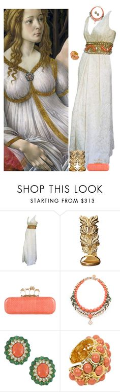 """European Masters - Botticelli 2/5"" by djalicat ❤ liked on Polyvore featuring Sandro, Ceil Chapman, Giuseppe Zanotti, Alexander McQueen, Ellen Conde, Ciner, Lanvin and MastersOfMimicry"