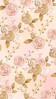 50 Ideas for wall background paper rose gold Flower Phone Wallpaper, Gold Wallpaper, Iphone Background Wallpaper, Cellphone Wallpaper, Pattern Wallpaper, Flower Backgrounds, Pretty Wallpapers, Paper Roses, Watercolor Flowers