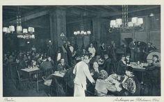 """Aschinger am Potsdamer - Bahnhof """"Innenaufnahme"""", Berlin, um 1940."""