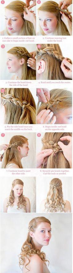 hair tutorials for medium hair updos