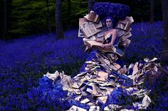 Kirsty Mitchell is a fashion photographer from Kent, England. Her beautiful purple hue with overwhelming elegant concepts labeled as 'Wonderland'