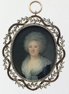 Portrait of a Woman  Villers (French, active ca. 1781–93)  Date: ca. 1790 Medium: Ivory Dimensions: Oval, 2 3/8 x 1 7/8 in. (60 x 48 mm) Classification: Miniatures Credit Line: Bequest of Collis P. Huntington, 1900 Accession Number: 26.168.55